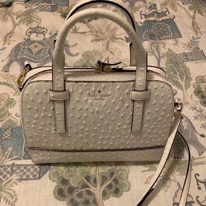 Kate Spade white ostrich bag